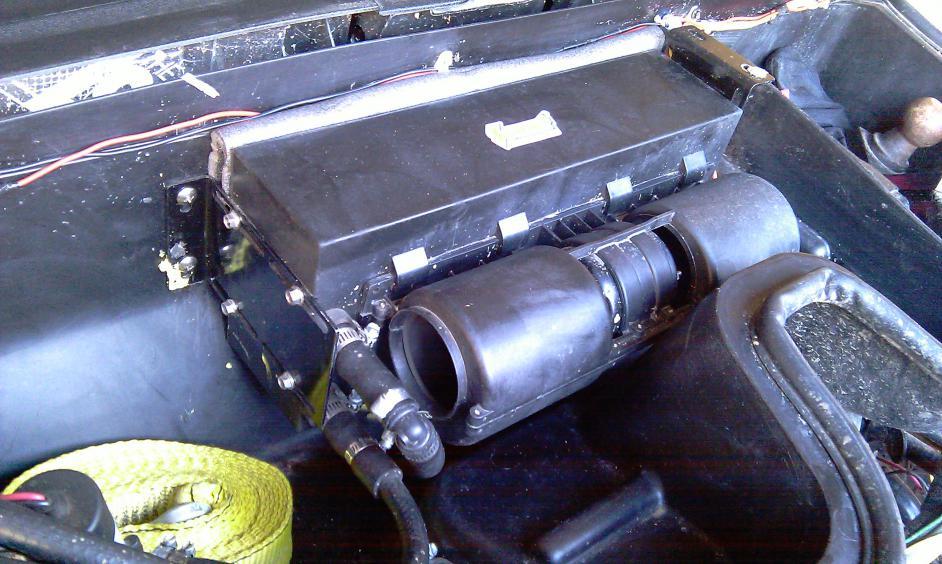 Stuffing 28k Btu Heater Under Dash Arctic Cat Prowler