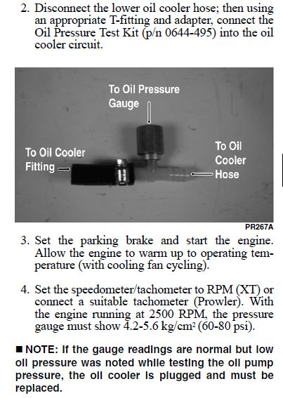 Installing oil pressure gauge on 650..-oil-pressure-lower-hose.jpg